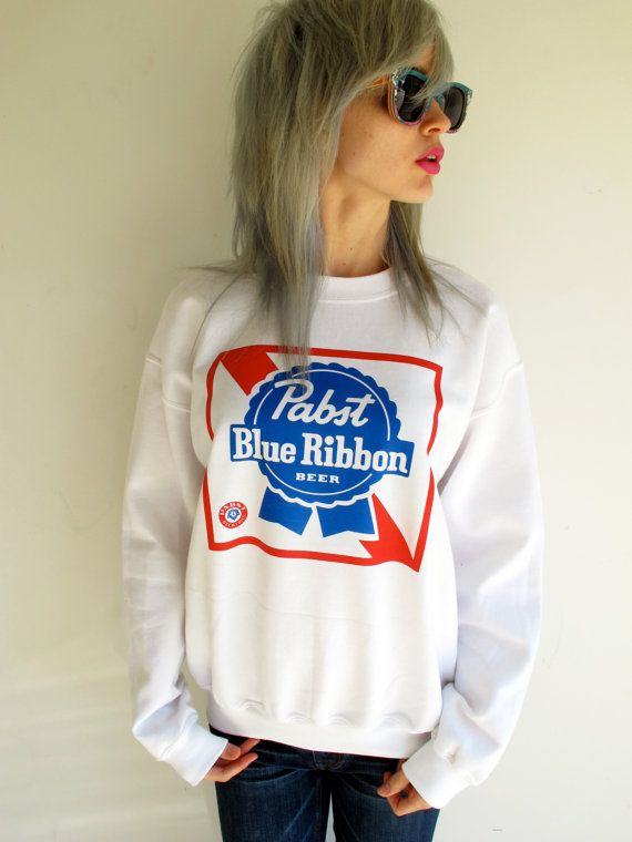 Vintage Pabst Blue Ribbon Sweatshirt / Hipster / PBR on Etsy, $35.00