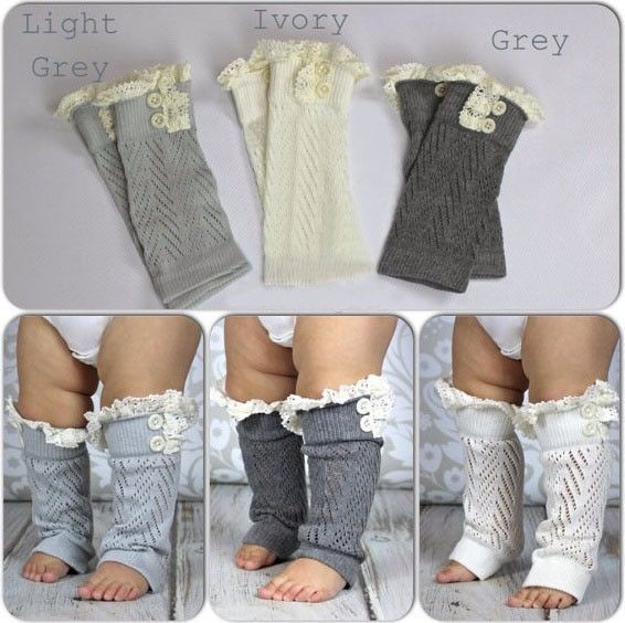These darling leg warmers are a must have! They will stretch to fit most sizes, and can be scrunched below the knee or worn longer up the thigh with boots. You can also reverse them for a boot sock lo