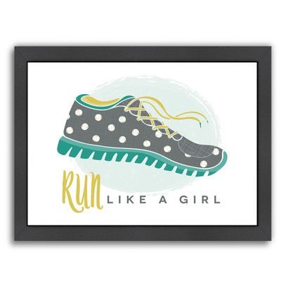 Americanflat 'Like A Girl 2' by Beth Schneider Framed Graphic Art Size: