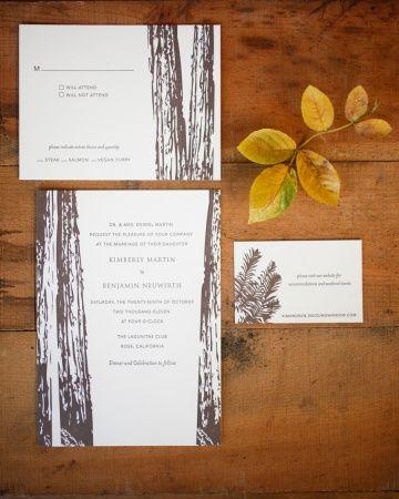 woodsy themed wedding invitations | Wedding Invitations & Stationery | Martha Stewart Weddings