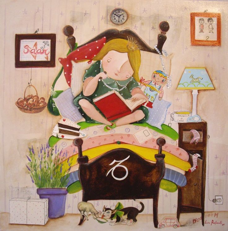 Reading in Bed ~ Lucia Rafanelli