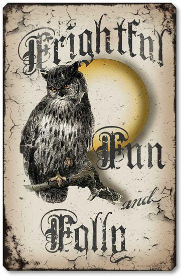 Vintage Style Halloween Owl