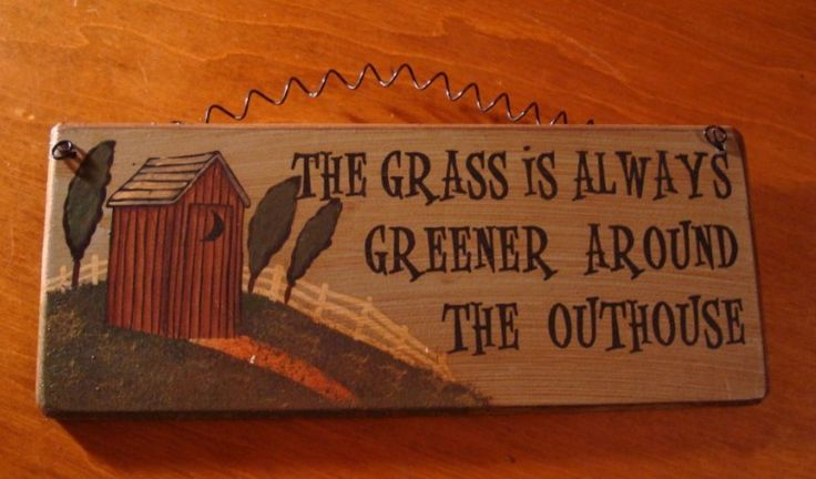 Primitive Wood Signs | Rustic Primitive Wood Outhouse Bathroom Sign So Cute | eBay