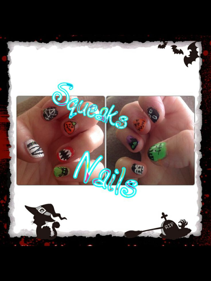My nails for hollween 2013