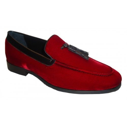 Arfango loafer in red velvet