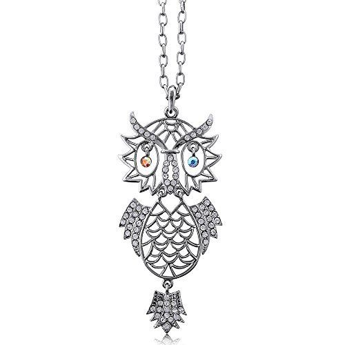 Rhinestone Owl Womens Fashion Pendant Necklace 24 available at joyfulcrown.com