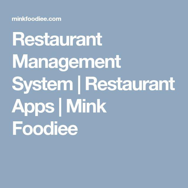 Restaurant Management System | Restaurant Apps | Mink Foodiee