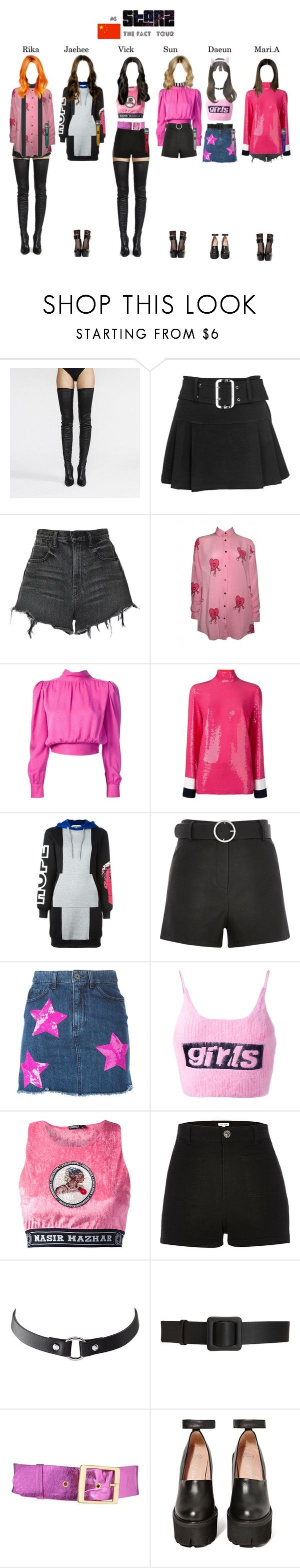 """""""THE FACT TOUR    Hong Kong, China"""" by starz-official on Polyvore featuring Alexander Wang, Lazy Oaf, Yves Saint Laurent, Emilio Pucci, Moschino, Black, Au Jour Le Jour, Nasir Mazhar, River Island and Charlotte Russe"""