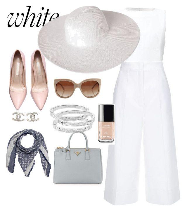 """WHITE!!!"" by antonella-ienna on Polyvore featuring moda, Marni, Prada, ESCADA, Louis Vuitton, STELLA McCARTNEY, Chanel, Dorfman Pacific, Michael Kors e women's clothing"