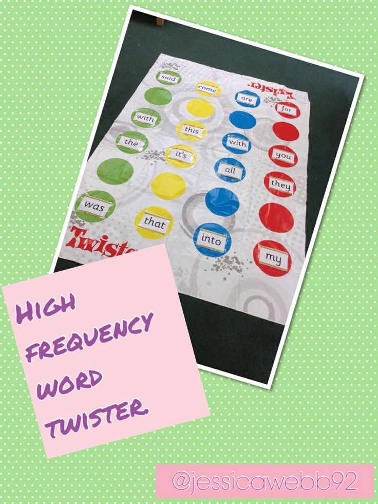 High frequency word twister. EYFS