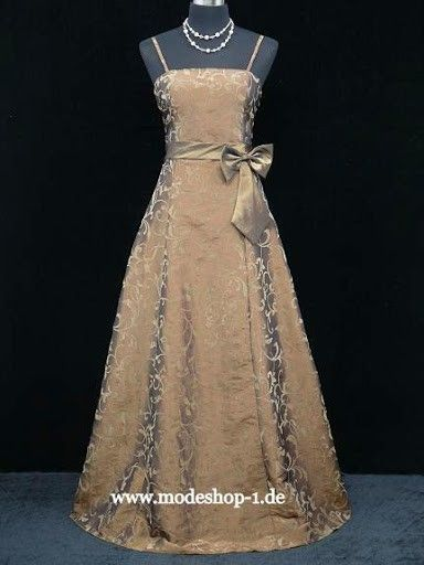 Mode Abendkleid Bangkok in Bronze Braun
