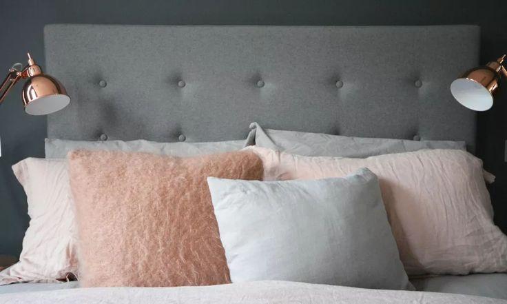 Spare Bedroom Makeover: Grey, Copper + Pink