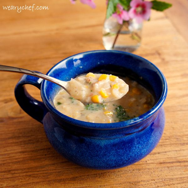 Crab and Corn Chowder with Bacon and Jalapeno - Ready in about 30 minutes!