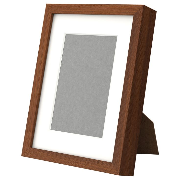 Ribba frame medium brown ikea for 5x7 photo w mat for Ikea ribba weiay
