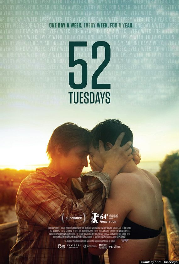 52 Tuesdays  |  is a groundbreaking new film that explores issues affecting the transgender community and the way transitioning intimately affects family dynamics.  Directed by Sophie Hyde, the film follows 16-year-old Billie who is forced to live with her father for a year while her mother transitions from female to male. The pair, who are extremely close, agree to meet every Tuesday during their year apart.