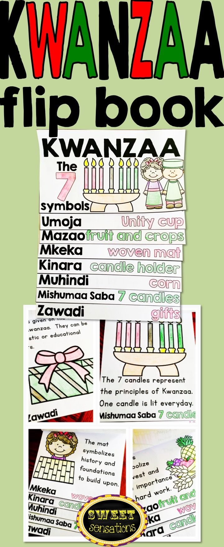 Kwanzaa activity flip book - perfect introduction to the holiday or review.