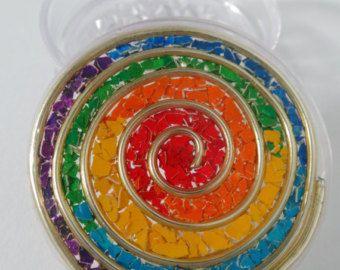 Arco iris remolino tres parte magnética hierba por Planetbear