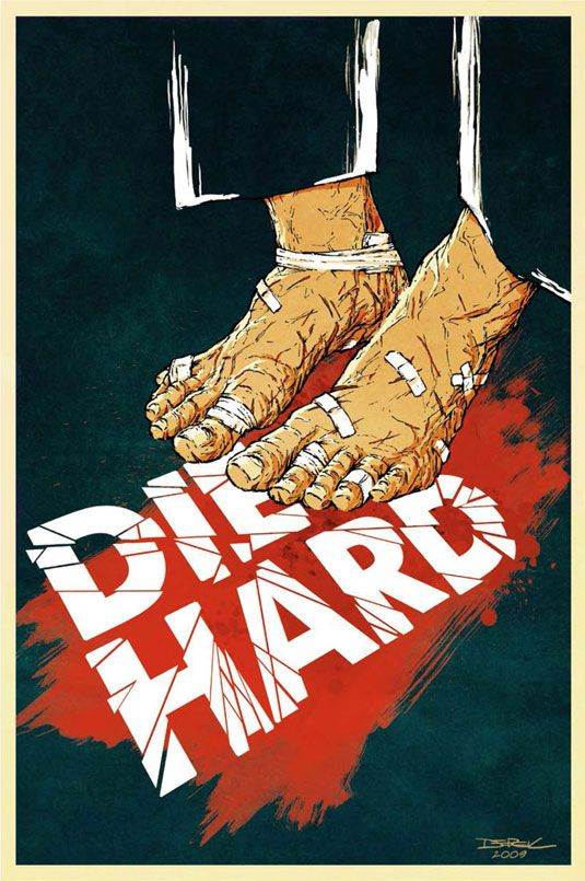 Alternative designs to classic movie posters by Underground. #DieHard #movie #poster