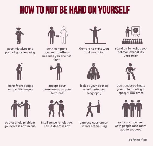 Great Infographic on Self-Compassion: How not to be Hard on Yourself | Mappalicious