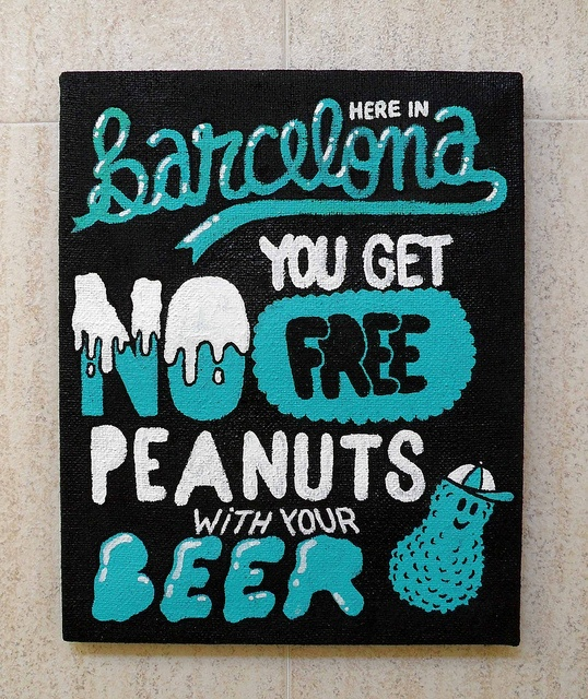 I have been to a couple of bars in Barcelona and can verify this statement - no peanuts :(