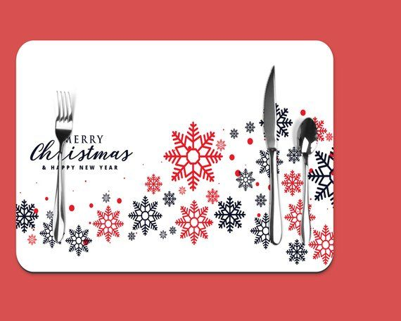 Christmas Placemats Placemat Christmas Placemat Table Mat Etsy Christmas Placemats Placemats Christmas Table Decorations