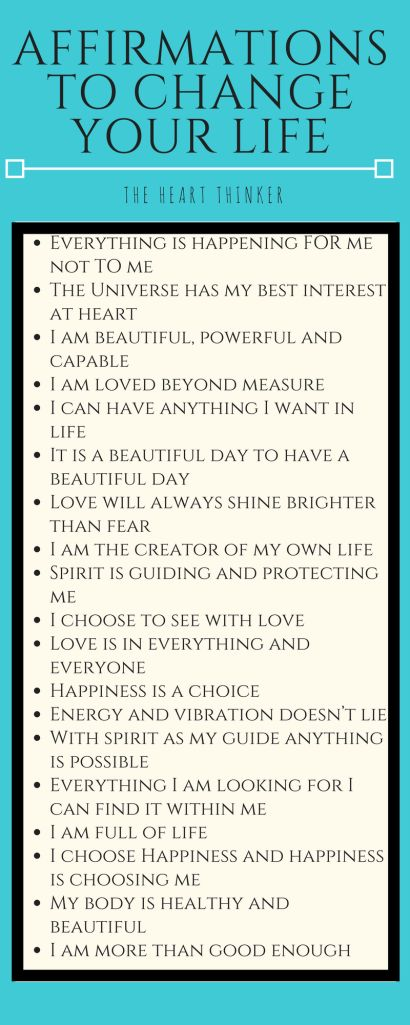 Affirmations help you stay grounded and positive in difficult situations. Read how they can benefit you in many ways on my blog theheartthinker.wordpress.com