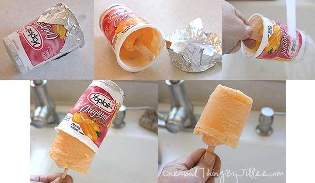 "Orange ""Creamsicle"" Frozen Yogurt Pops!"
