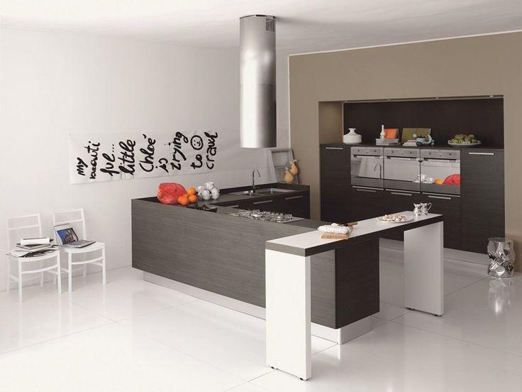 Cucina lineare in melaminico MIA Collezione Contemporary by Aran