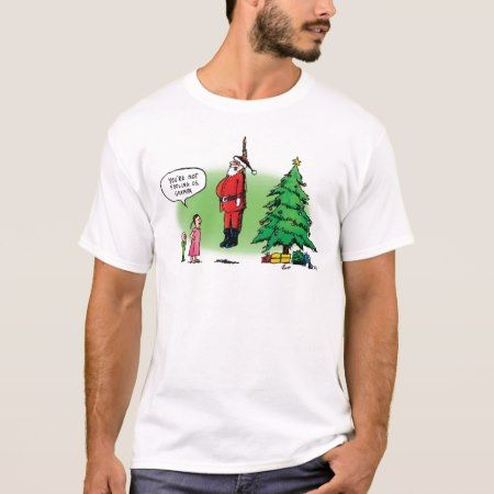 Well Hung Santa Scares the Kids Shirt - click/tap to personalize and buy
