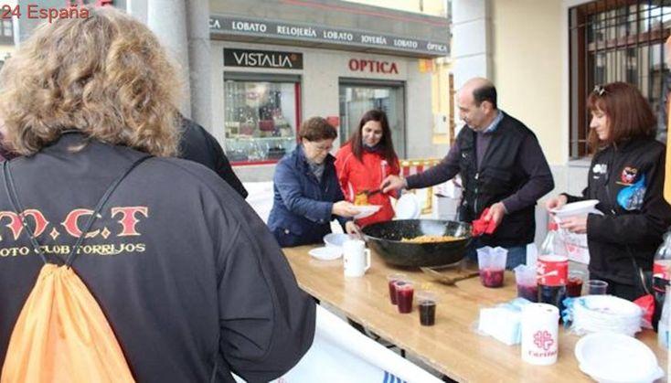 El Motoclub Torrijos recoge 500 kilos de comida con una degustación de migas