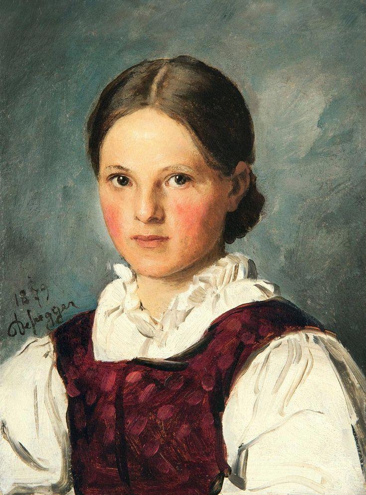 Franz von Defregger - Bauernmädchen 1870
