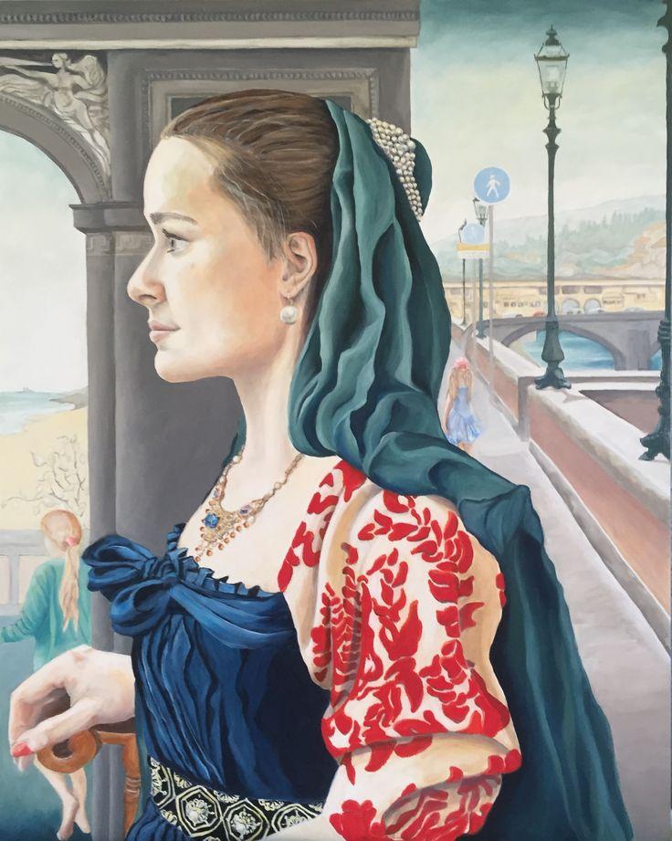 Portrait Clara, oil painting, Esther Eggink