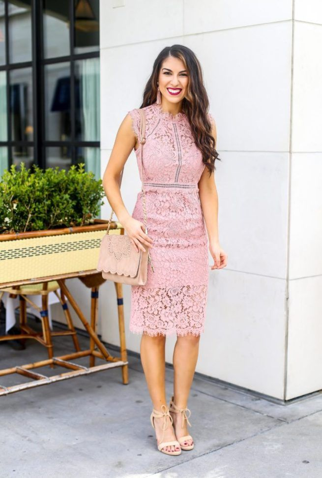 1342885849f Pink Lace Dress for Spring Season. VDay Dresses. Dresses for Valentines  Day. Pink Lace Dress. Spring dress. Dress for wedding season. Wedding guest  dress.