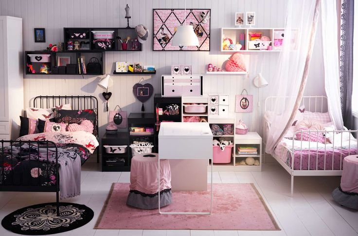 48 best avitaciones chics images on pinterest bedroom for Habitaciones juveniles ikea