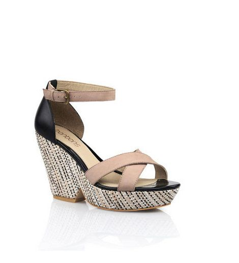 Bonbons - Anabel Wedge  Wedge with ankle strap & cross over front strap, featuring woven heel detail.    Leather upper, synthetic lining & sole.    Heel: 9.5cm    BUY NOW