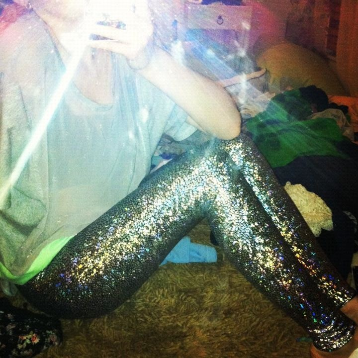 Black Milk leggings (shattered glass)    http://www.blackmilkclothing.com/collections/leggings/products/shattered-glass-silver-leggings