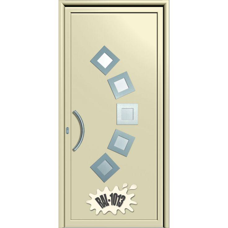 Maßgefertigte Aluminium Haustür EPAL Inox 191 mit Aluminium Einsatzfüllung 42mm und 2-fach Verglasung, Satiniertes Glas (gegen Aufpreis bis 72mm Aufsatz-Füllung, außen flügelüberdeckend mit 3-fach Verglasung). Das 87mm dicke, thermisch getrennte Profilsystem und die 42mm dicke Füllung sorgen für eine gute Wärmedämmung. EPAL-Türen erreichen je nach Aufbau UD-Werte bis unter 1,0 W/(m2K). So sparen Sie Heizkosten und genießen gemütliche Wohlfühlatmosphäre zu Hause.   Standardausstattung der…