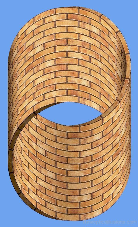 Bricks Optical Illusion