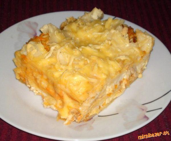 Lasagne s kuracím mäsom a zeleninou...