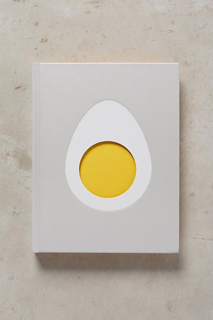 Simplistic die-cut cover design for egg recipe book. Use of minimal colors and shapes makes it unique amongst other recipe book covers