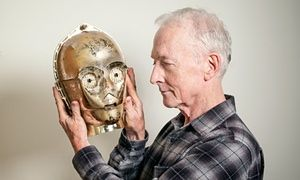 Alas, poor C-P30 … Anthony Daniels with the original head from the first 1977 Star Wars movie. 'The secrecy has been ludicrous': Star Wars actor Anthony Daniels on the new film and his life as C-3PO