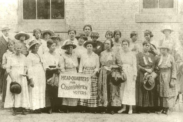 Black women formed their own organizations to fight for the right to vote and then exercise that right. The organization shown here had its headquarters in Georgia in the early part of the 20th century.