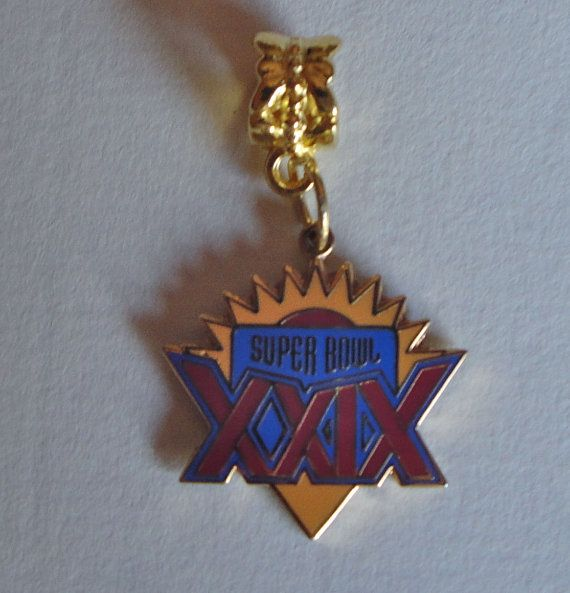 Super Bowl XXIX 29 Charm - 49ers vs. Chargers in Miami January 1995 - Steve Young, Jerry Rice on Etsy, $6.99
