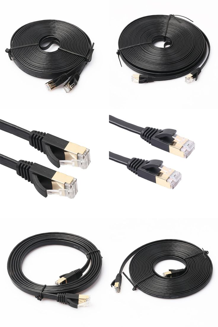 [Visit to Buy] CAT-7 Ethernet Ultra Flat RJ45  Patch Cable for Modem Router LAN Network  Built in Gold Plated Connectors   #Advertisement