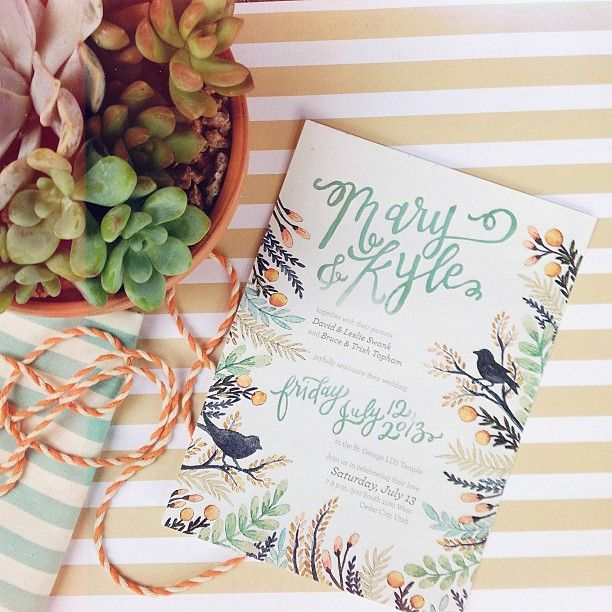 stationery, invitation wedding, faire-part, flowers, birds