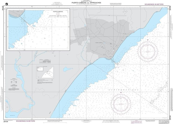 NGA Chart 28104: Puerto Cabezas and Approaches