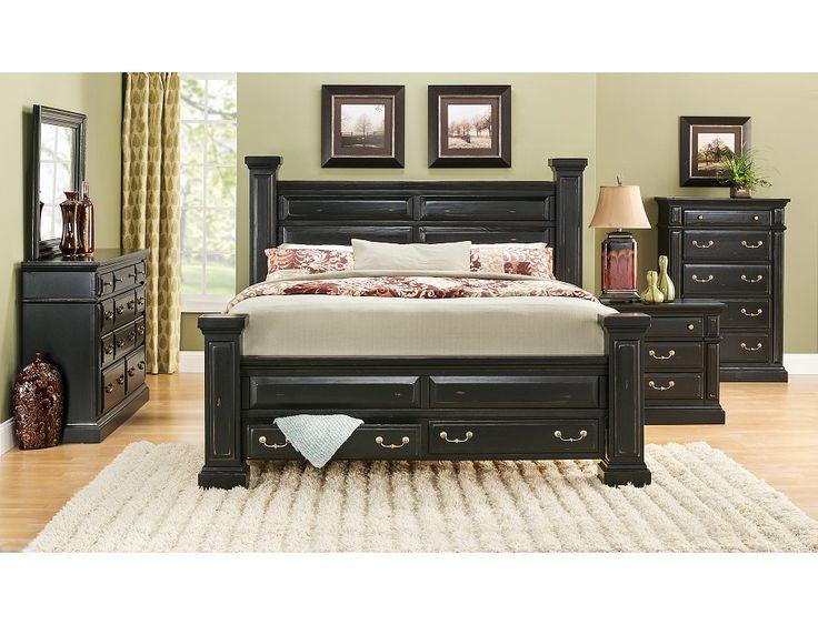 Slumberland   Torreon Collection   Black 5Pc Queen Room Package. 322 best Slumberland Furniture images on Pinterest   Living room