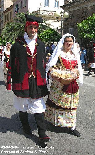Costumi di Settimo S. Pietro (coppia)