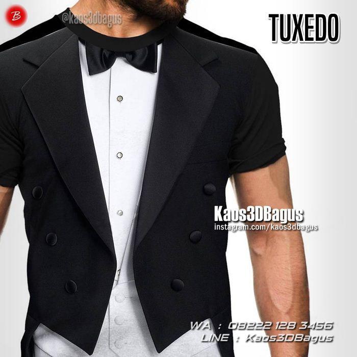 Kaos TUXEDO, Kaos3D Gambar Tuxedo, Kaos Gambar Jas, Kaos 3 Dimensi Jas Dasi Kupu-Kupu, https://kaos3dbagus.wordpress.com, WA : 08222 128 3456, LINE : Kaos3DBagus