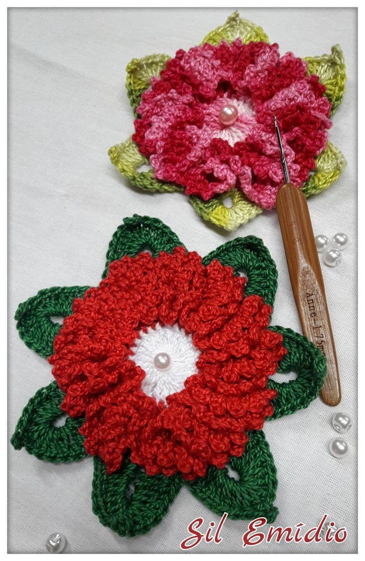 Flor de crochê rendinha                                                       …